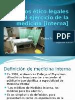Aspectos Etico Legales Del Ejercicio de La Medicina Interna 2016