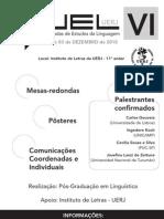 VI Jornada de Estudos da Linguagem da UERJ