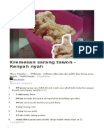 Kremesan Sarang Tawon