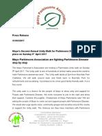 mpa press release unity walk 2017