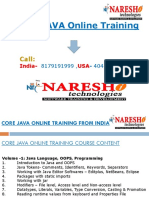 Core Java Online Training in India From Experts