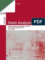 Static Analysis SAS 2011
