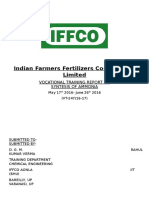 Report Iffco UREA PRODUCTION