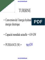 Al Mohandiss - Machines Hydrauliques Chapitre 7- Turbine