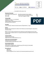 Sample Resume for Freshers- New Format