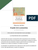 RESUMEN El poder de la autoestima - Nathaniel Branden.pdf