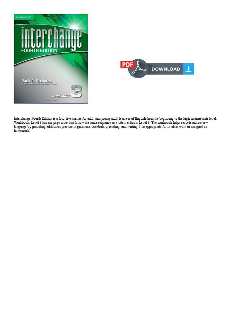 Workbooks interchange fourth edition online workbook : Interchange Level 3 Workbook