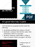 how to wirte an introductory paragraph