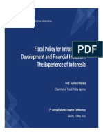 Fiscal Policy for Infrastructure Development and Financial Inclusion-The Experience of Indonesia