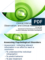 20170309160340S2017_2_Clinical Interview, Clinical Observation and Clinical Assessment