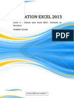 Formation EXCEL 2013