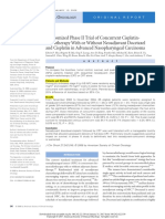 22 Randomized Phase II Trial of Concurrent Cisplatin