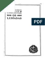 Os Lusíadas Comentário de Francisco de Sales Lencastre Volume 2- EDIÇÃO ANOTADA - de 1927