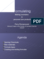 Formulating Making Cosmetics P Romanowski