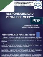 Responsabilidad Penal Del Medico (Legislación en Emergenciología)