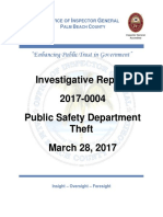 Office of the Inspector General (Palm Beach County, Florida) Report on Anita Pedemey