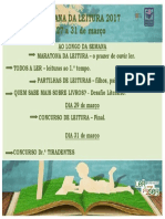 Cartaz Semana Leitura Datas PDF