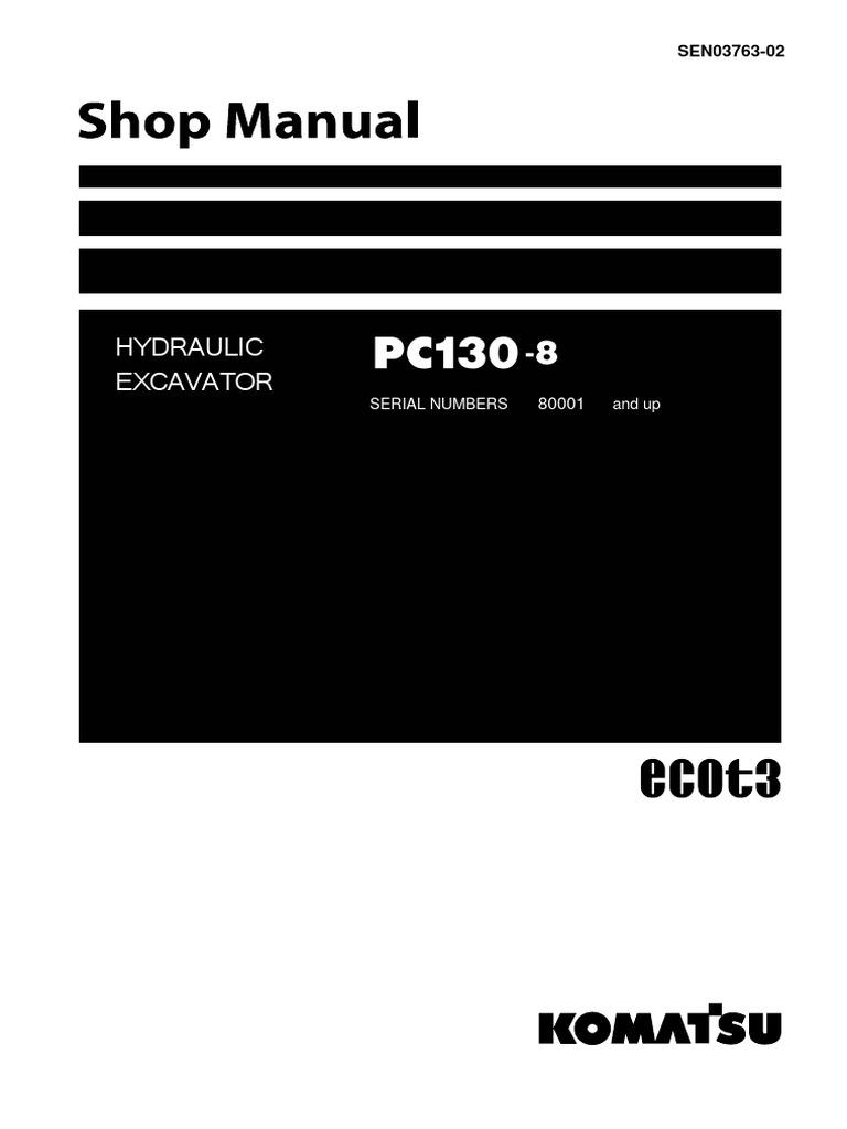 download komatsu pc130 8 excavator manual