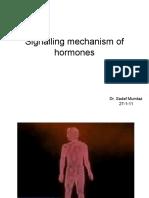 Signalling Mechanism of Hormones