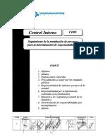 Reglamento Para Seguimiento de Tramitacion de Procesos Para Determinar Responsabilidades