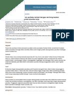 Kesehatan Mencari Analisis Perilaku Terkait Dengan Skrining Kanker Payudara Di Kalangan Wanita Amerika Asia