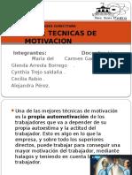 1.4 Tecnicas de Motivacion