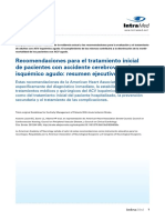 ACV Isquemico Agudo Recomendaciones AHA 2013