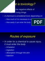 03 01 Toxicology