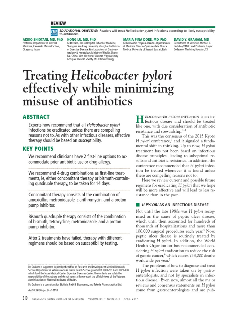 How can Helicobacter pylori eradication therapies be improved?