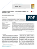 Evaluation of working fluids for geothermal power generation from abandoned oil wells