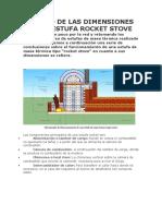 Cálculo de Las Dimensiones de Una Estufa Rocket Stove