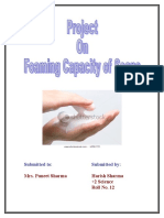 Foaming Capacity of Soap