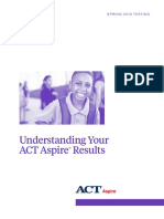 understanding your act aspire results - spring 2016