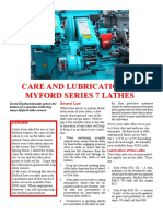 Myford ML7 Lubrication Chart
