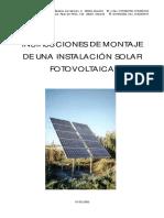 Montaje de Una Instalacion Solar Fotovoltaica