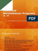 Ethics and Whistleblower