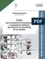 Ciencias_Fisica_Guia Para Examen de Conocimientos y Competencias Didácticas Que Favorecen El Aprendizaje de Los Alumnos