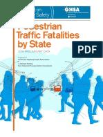 Pedestrian Traffic Fatalities Report