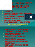 METRADOS EN LA CONSTRUCCION