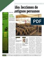 El Niño, Lecciones de Los Antiguos Peruanos