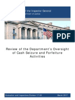 Inspector General DOJ Forfeiture Report March 2017