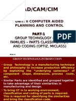 Unit i 1.5 Group Technology, Part Classi, Coding