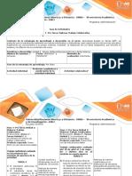 Guía de Actividades y Rúbrica de Evaluación - Paso 3- Pre Tarea