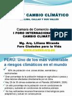 Liliana Miranda_Agua y Cambio Climático