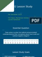 TE 802 Lesson Study