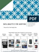 Data Analytics for Auditing