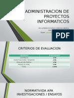 Unidad i. Introduccion a La Administracion de Proyectos.