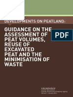 Guidance on the Assessment of Peat Volumes, Reuse of Excavated Peat and the Minimisation of Waste