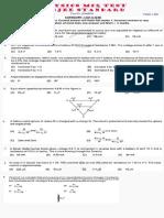 Physics Test 20160929 WBJEE Standard