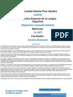 Trabajo Final, Didactica Especial de La Lengua Española